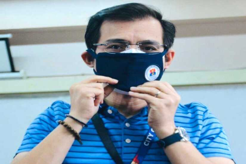 Manila Mayor Isko Moreno tells residents to wear face masks all the time to protect themselves against COVID-19.