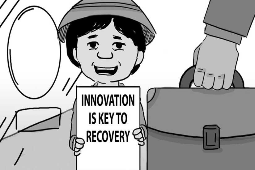 Caricature: Innovation is key to recovery