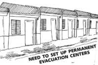 Need to set up permanent evacuation centers