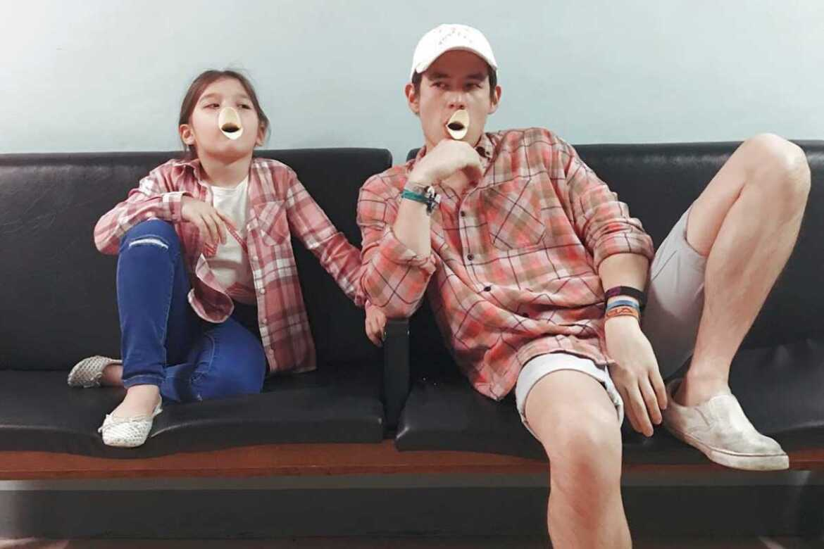 Jake Ejercito and daughter Ellie