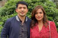 Andrea Torres and Dennis Trillo