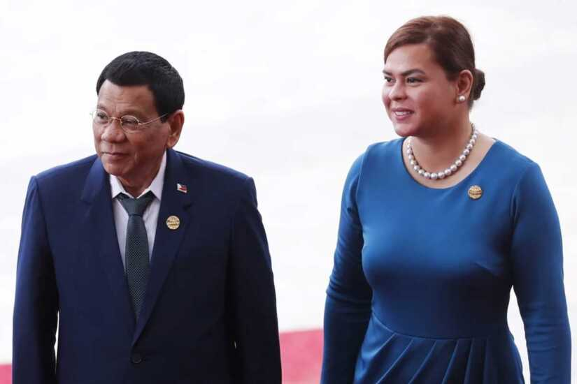Rodrigo Duterte and Sara Duterte Carpio